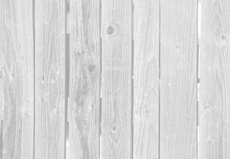 Photo pour Close up of old gray wooden fence panels. Image in light gray tonality - image libre de droit