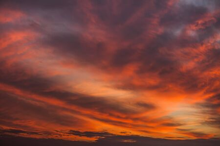 Photo pour Abstract nature background. Colorful dramatic sky with cloud at sunset. Dramatic and moody pink, purple and blue cloudy sunset sky - image libre de droit