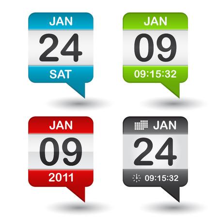 calendar icon on white background