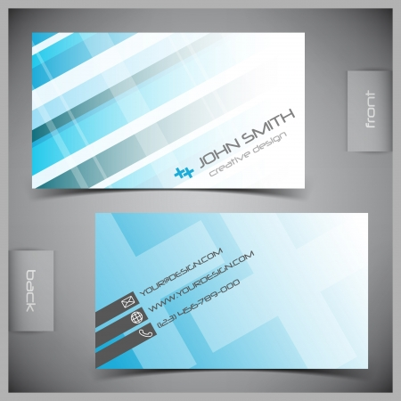abstract creative business cards (set template)