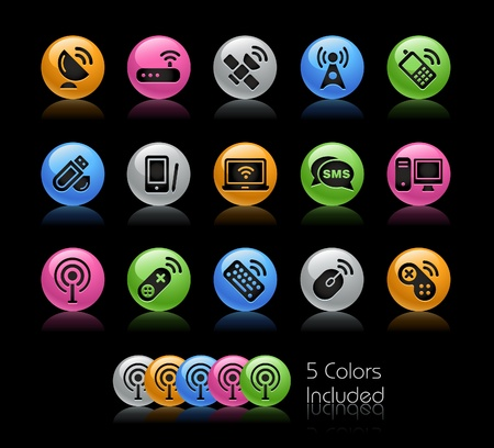 Wireless & Communications / The vector file includes 5 colors in different layers.