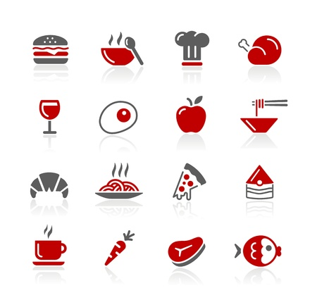 Food Icons - Set 1 of 2 - Redico Seriesのイラスト素材