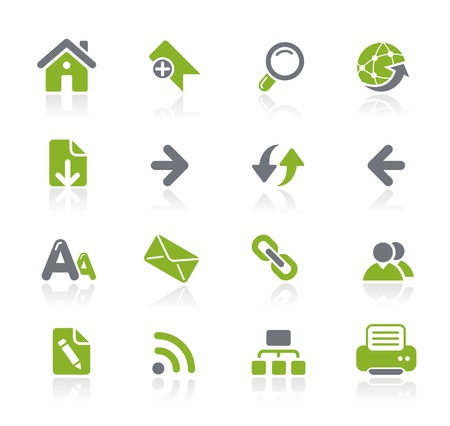 Illustration pour Web Navigation Icons -- Natura Series  - image libre de droit