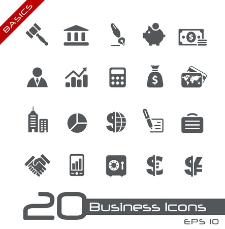 Business and Finance Icons -- Basics Series