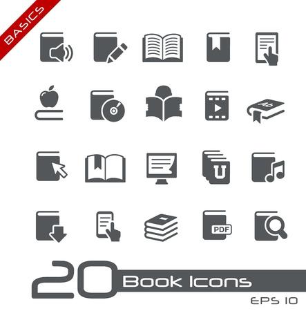 Illustration pour Book Icons -- Basics Series - image libre de droit