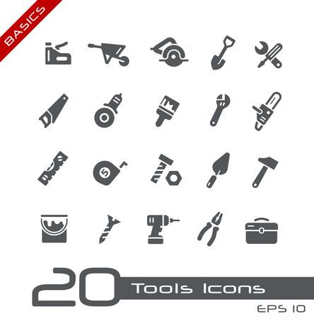 Illustration pour Tools Icons -- Basics - image libre de droit