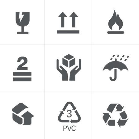 Ilustración de Packaging Symbols - Imagen libre de derechos