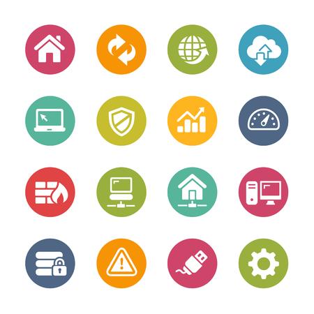 Illustration pour Web Developer Icons - Fresh Color Series - image libre de droit