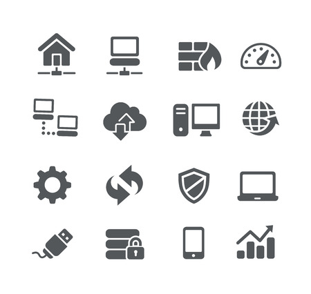 Illustration pour Network Icons -- Utility Series - image libre de droit