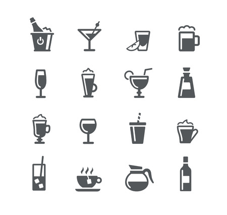 Illustration pour Drinks Icons - Utility Series - image libre de droit