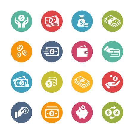 Illustration pour Money Icons // Fresh Colors - image libre de droit