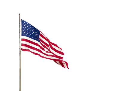 Photo pour American Flag Isolated on a White Background - image libre de droit