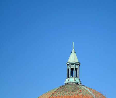 Domed Roof and Steeple On Old Historic Church