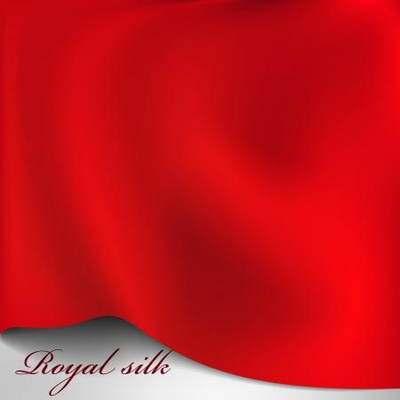 Vector red silk background