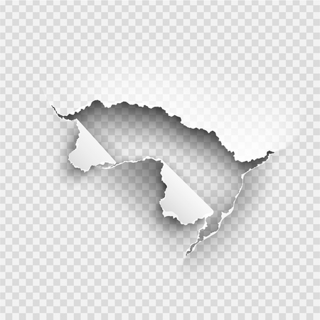 Illustration pour ragged Hole torn in ripped paper on transparent background - image libre de droit