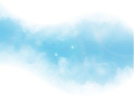 Illustration pour vector clouds and smoke on blue sky - image libre de droit