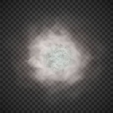 Illustration pour fog and smoke isolated on transparent background - image libre de droit