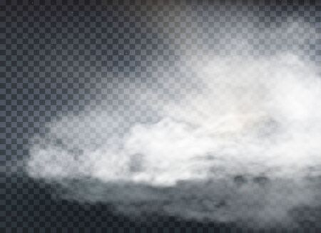 Illustration pour cloud and smoke isolated on transparent background - image libre de droit