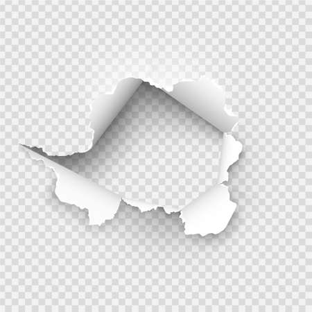Photo for ragged Hole torn in ripped paper on background - Royalty Free Image