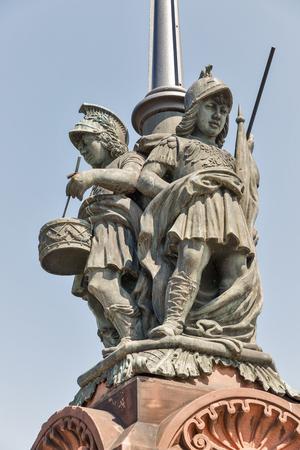 Moltke Bridge statue in Berlin, Germany