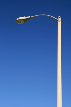 street light against a blue sky background