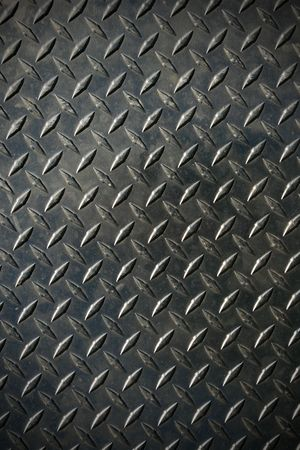 diamond tread steel background texture with slight vignette