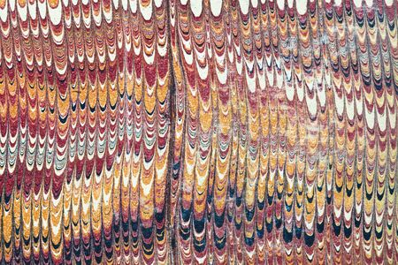 vintage combed marbled paper detail with vertically streaked color bands