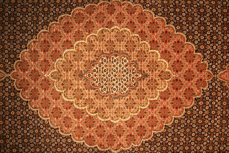 brown and red persian carpet background texture