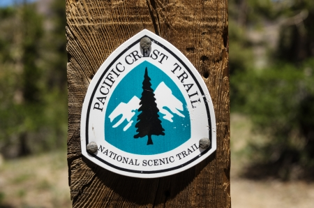Pacific Crest Trail Sign near Sonora Pass