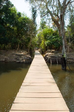 path to ancient temple in Cambodia