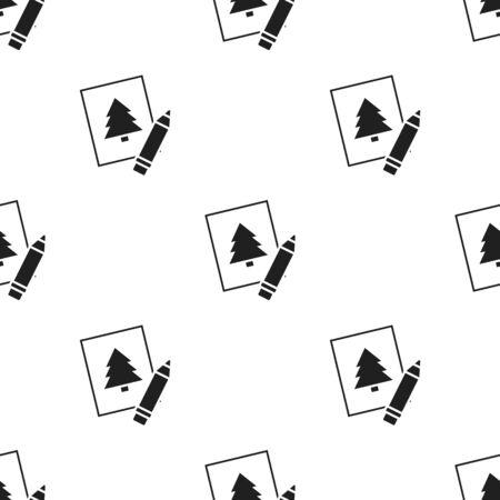 Picture black icon. Illustration for web and mobile design.