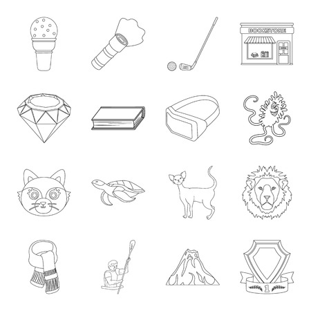 Sport, library, animal and other web icon in outline style  medicine