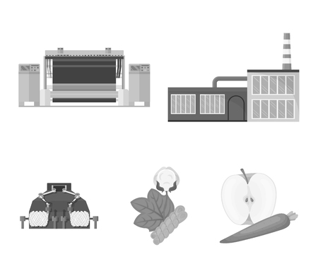 Factory and other icon in monochrome style