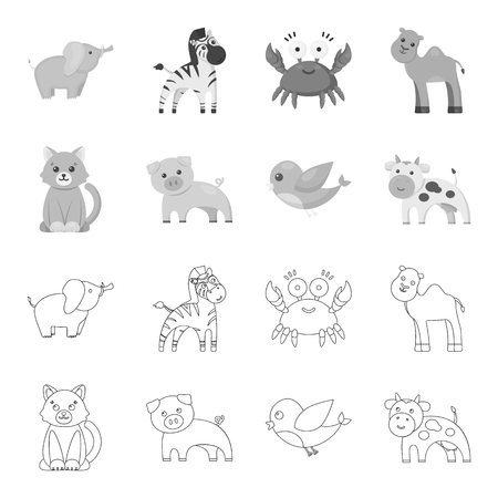 Toy animals vector symbol stock web illustration.