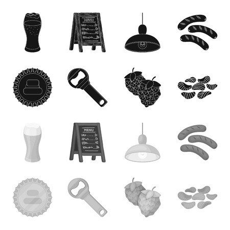 Pub set collection icons vector symbol stock illustration web.