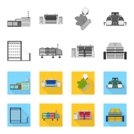 Machine, equipment, spinning, and other web icon in monochrome,flat style., Appliances, inventory, textiles icons in set collection.