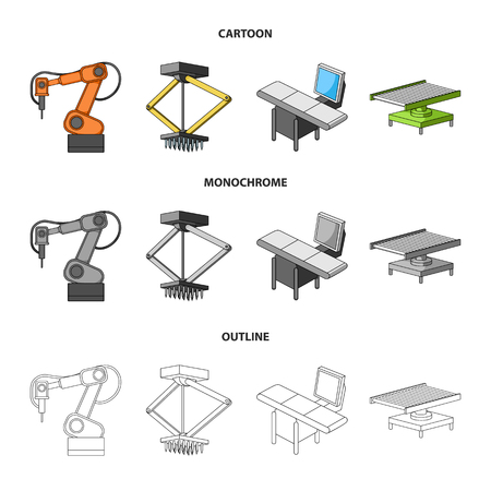 Automotive industry and other web icon in cartoon,outline,monochrome style.New technologies icons in set collection.