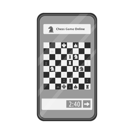 Vector design of checkmate and thin icon  Set of checkmate