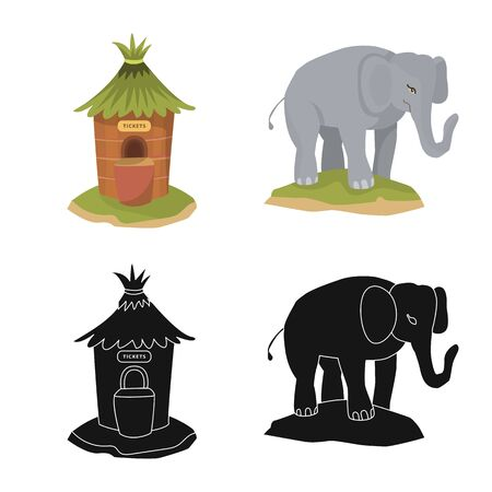 Vector illustration of nature  and fun  icon. Set of nature  and entertainment stock vector illustration.