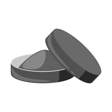 Isolated object of snuff and delivery logo. Collection of snuff and round  vector icon for stock.