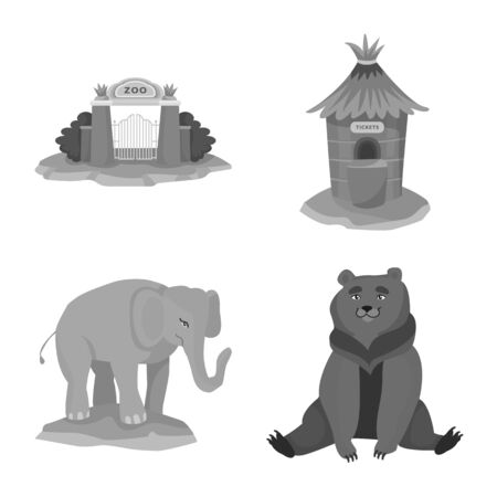 Vector illustration of zoo and park icon. Collection of zoo and animal stock vector illustration.