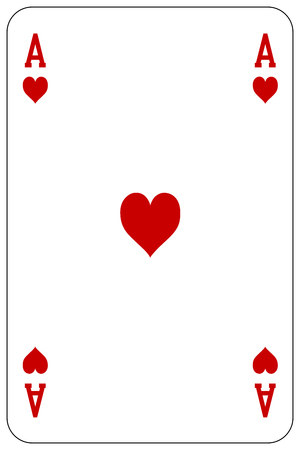 Poker playing card Ace heart