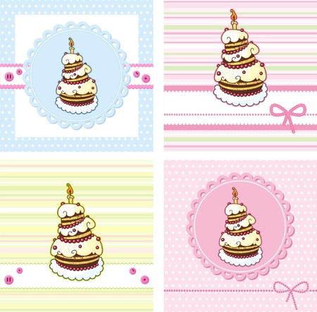 cards set with holiday cake
