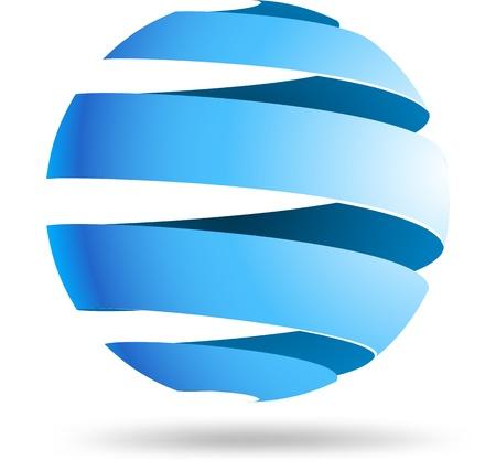 Ilustración de Abstract sphere symbol  - Imagen libre de derechos