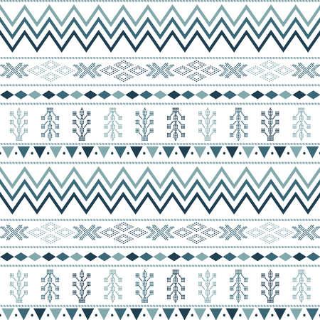Illustration pour seamless pattern with motif Aztec tribal geometric shapes. seamless traditional textile bandhani sari border. creative seamless indiant bandhani textures border - image libre de droit