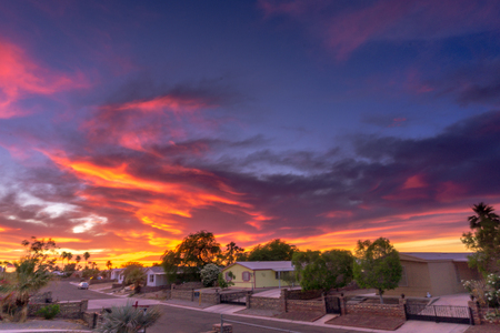 many beautiful colors Sunset in Yuma Arizona