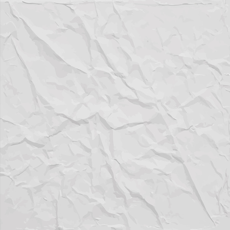 Illustration pour White wrinkled paper texture, abstract vector background - image libre de droit