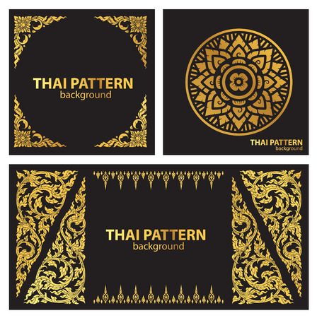 Photo for thai pattern style vector - Royalty Free Image