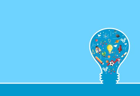Illustration pour idea on light bulb.education concept.can be used for layout.vector - image libre de droit