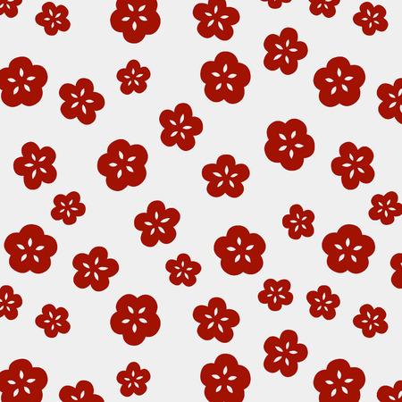 Illustration for Japanese Cute Small Cherry Blossom Pattern - Royalty Free Image